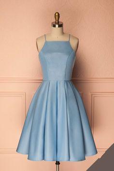 Tea Length Navy Blue Formal Occasion Dress
