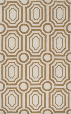 Hudson Park Rug designed by @Angelo Surmelis has a wonderful geometric pattern in a muted brass tone. From Surya. (HDP-2015)