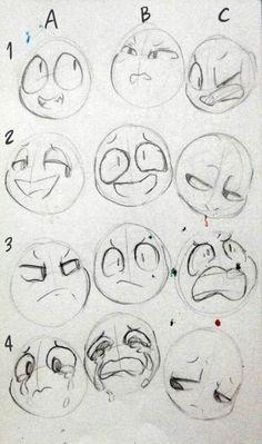 #wattpad #random Ninguna de las bases que verás aquí son de mi propiedad Art Drawings Sketches, Cartoon Drawings, Cute Drawings, Pencil Drawings, Drawing Techniques, Drawing Tips, Drawing Ideas, Drawing Face Expressions, Anime Expressions