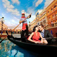 Gondolas in the Venetian Las Vegas