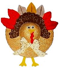 turkey on straw hat