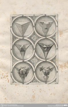 From 'Perspectiva Corporum Regularium' by Jamnitzer, Wenzel. 1568.