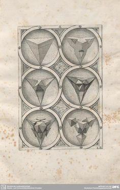 From 'Perspectiva Corporum Regularium' by Jamnitzer, Wenzel. 1568.