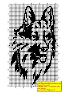 chien - dog - broderie - cross stitch- Chien loup - Point de croix - Blog : http://broderiemimie44.canalblog.com/