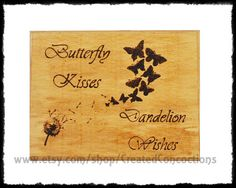 WISHES Butterfly Kisses Dandelion Wishes by CreatedConcoctions