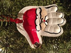Baby's first Christmas handprint ornament Newborn Christmas, Babies First Christmas, Christmas Baby, Christmas Gifts, Christmas Rock, First Christmas Ornament, Winter Christmas, Christmas Decorations For Kids, Christmas Ideas