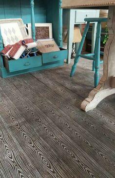 diy stencil concrete floors /