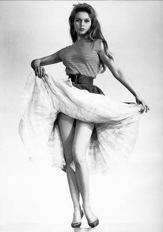 Brigette Bardot, quintessential  girl-next- door sexpot of 1960s.