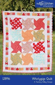 Whirlygig Quilt by Indygo Junction | Quilting Pattern - Looking for your next project? You're going to love Whirlygig Quilt by designer Indygo Junction. - via @Craftsy