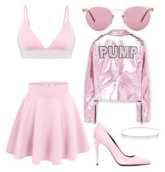 """""""Pale pink monochrome outfit"""" by zoee-b-chapman on Polyvore featuring Oliver Peoples, Alexander Wang, Suzanne Kalan and MANGO"""