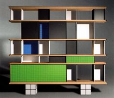 A photograph of a piece of furniture is not a piece of furniture; the same is true for painting, sculpture, architecture or whatever. Types Of Furniture, Cool Furniture, Furniture Design, Chair Design, Wall Design, Room Divider Curtain, 1950s House, Charlotte Perriand, Cabinet Design