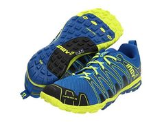Inov-8 Trailroc 245 Blue / Lime - Designed specifically for running on loose, rugged and eroded trails. The middle shoe of the trailroc range, includes sufficient under foot protection and cushioning for racing and training. Includes MetaShank gen3 for increased underfoot protection.