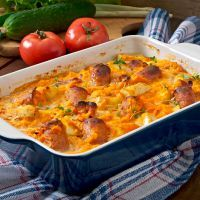 Sweet And Savory Pumpkin Apple Smoked Sausage Casserole