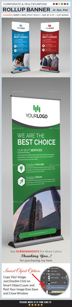 Corporate Rollup Banner — Photoshop PSD #creative banner #product • Available here → https://graphicriver.net/item/corporate-rollup-banner/13595448?ref=pxcr