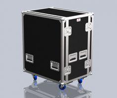 Flightcase, 2x Head Peavey 6505+Rack 4U, rodas | Santosom