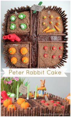 Books with craft ideas - Peter Rabbit Birthday Cake