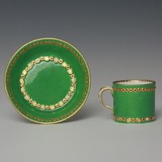 Tableware: A Sèvres Porcelain 'jewelled' Cup & Saucer, 1782