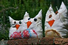 Stuffed owls - gufo dagli occhi spalancati gufo fermaporta, paraspigoli cotone,imbottitura,sabbia cucito,imbottito