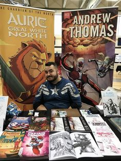 Interview with Andrew Thomas at the Barrie Comic Con Book Creator, The Creator, Great North, North Country, The Great White, True North, Interview, Comics, Comic Con