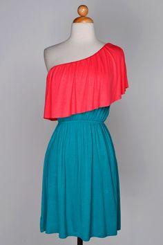 AMAZING NEW RUFFLE ONE SHOULDER DRESS!