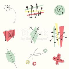 retro elements for design, grouped seperately, sketched, scanned and created in illustrator.