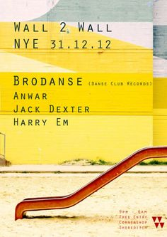 Our first New Years gig. Nice Poster.