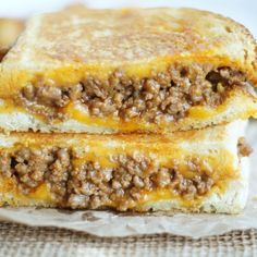 Grilled Cheese Sloppy Joes - Recipe, Beef, Kid Friendly, Quick and Easy, Main Dish, Delicious