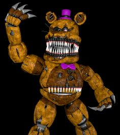 Nightmare fredbear sfm Fnaf Characters, Five Nights At Freddy's