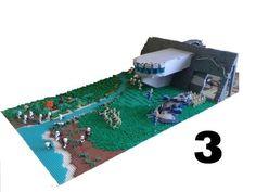 HUGE Lego Star Wars Underground Clone Base on Concordia - YouTube