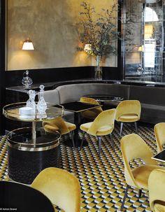 11 inspirations de designers - restaurant jaune -  Le Flandrin