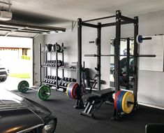 47 Inspiring design ideas for the home gym PRx performance - lift big in small spaces (as seen on Shark Tank!)Extreme Home Makeover: Garage Gym incredible ideas for the home gym, time for Home Gym Basement, Home Gym Garage, Diy Home Gym, Gym Room At Home, Home Gym Decor, Best Home Gym, Crossfit Garage Gym, Diy Garage, Workout Room Home