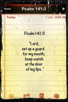 Psalm 141:3-Lips=Natural Boundary