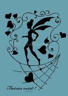 Fairy-Illustration-Instant Download-Silhouette by CartaeSogni