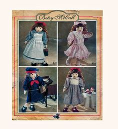 "18"" BETSY McCALL Doll Clothing McCalls 784 (8139) Dresses With Ribbon Ruffles Lace Button Details Sewing Pattern  UNCUT by FindCraftyPatterns on Etsy"