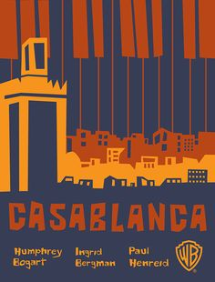 Casablanca Minimalist Movie Poster