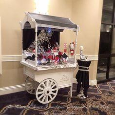 Masquerade Themed Candy Cart