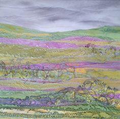 A Spring Day - Judith Reece 50 x 50 x 4.5cm - Textile on Canvas