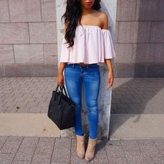 Early Fall Look + Off The Shoulder Top for under $30