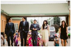 Guests arriving for Barat ahead of East Indian Wedding ceremony in Calgary. Photos by Sujata Photography