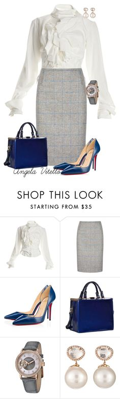 """""""Untitled #634"""" by angela-vitello on Polyvore featuring Vivienne Westwood, Christian Louboutin, Dasein, Stührling and Samira 13"""