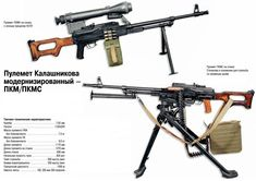 Russian weapons: The PKM 7,62x54mm machine gun, another Kalashnikov design.