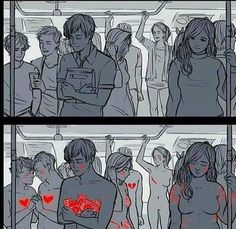 This is a perfect example of don't judge a book by its cover, you don't know what they're going through and you need to respect that.