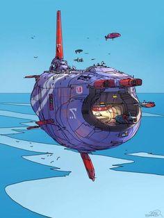 Rogue Telemetry - Concept Art by Sparth Nicolas Bouvier. Spaceship Art, Spaceship Design, Spaceship Concept, Concept Ships, Steampunk, Arte Tribal, Drawn Art, Futuristic Art, Science Fiction Art