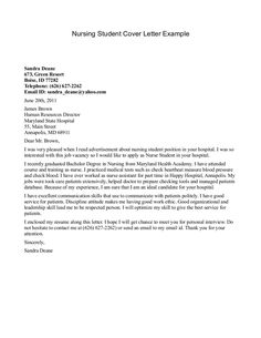 nursing student cover letter cover letter examples for nurses
