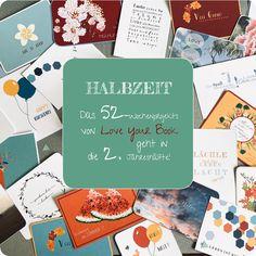 Die hälfte des 52-Wochenprojekts von Love your Book ist geschafft! 26 wunderschöne Postkarten sind online! Postcards, Projects, Nice Asses