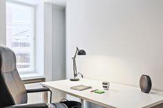 Etelä-Haagan helmi, vanha Tiili-Elanto on saneerattu uuteen uskoon. Vanhan talon ikkunat tuovat särmää uuteen asuntoon. Office Desk, Furniture, Home Decor, Gate Valve, Desk Office, Decoration Home, Desk, Room Decor, Home Furnishings