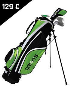 Green's - Kit enfants 9-12 ans ! Les fers sont adaptés à la taille des enfants et à leur swing. Le kit contient : - 5 compartiments - 5 clubs (Bois 3, F7, F9, SW et un putter)  - Un sac trépied avec double sangle - 5 poches - Porte-parapluie - Une capuche pluie Golf Bags, Club, Sports, 12 Year Old, Pockets, Children, Human Height, Bag, Hs Sports