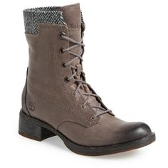 """Timberland Earthkeepers 'Whittemore' Lace-Up Boot, 1 1/2"""" heel ($240) ❤ liked on Polyvore featuring shoes, boots, ankle booties, ankle boots, lace-up ankle booties, leather lace up boots, lace up booties, lace up bootie and laced booties"""