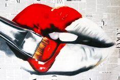 """Saatchi Art Artist Annie Terrazzo; Limited Edition Print, """"When In Doubt, Wear Red"""" #art"""