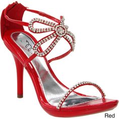 Ellie Women's '431-Monarch' Rhinestone Heels - Overstock™ Shopping - Great Deals on Ellie Heels